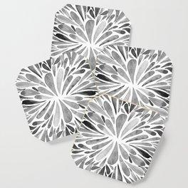 Symmetric drops - black and white Coaster