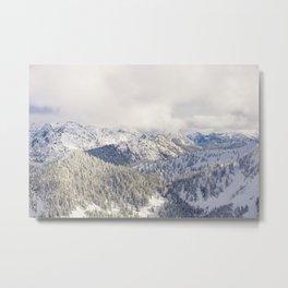 Light and Mountains 1 Metal Print