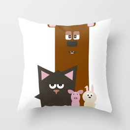 Animals Kingdom Throw Pillow
