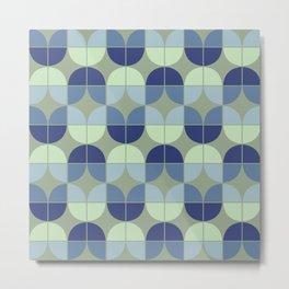 Mid Century Geometric 2 Metal Print