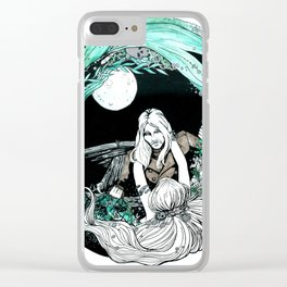 La sirena y el pescador Clear iPhone Case