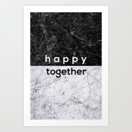 Happy Together Couples Quote Art Print