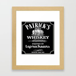 Patrick's Irish Whiskey Framed Art Print