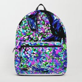 HORSE AND FLOWER PETALS OIL PAINTING Backpack