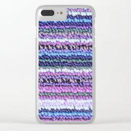 Lilac Blue Carpet Clear iPhone Case