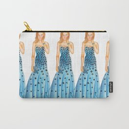 Karlie in Strapless Blue Mermaid Gown Carry-All Pouch