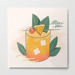Mai Tai cocktail Metal Print