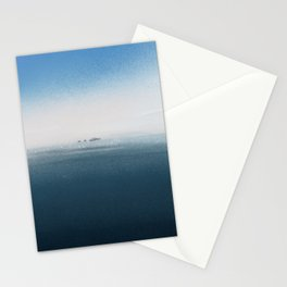 The cold Sea Stationery Cards