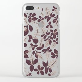 purpur // purple branches, delicate flowers Clear iPhone Case