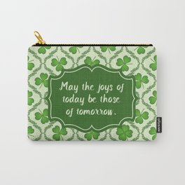 Irish Blessing Shamrocks Pattern Carry-All Pouch