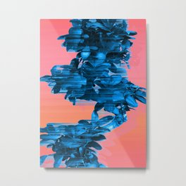 Velocious Blue Little Tree Metal Print