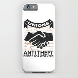 Labor Union of America Pro Union Worker Protest Light iPhone Case