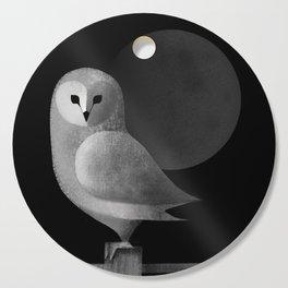Barn Owl Full Moon Cutting Board