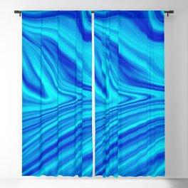 Blue Liquid Blackout Curtain