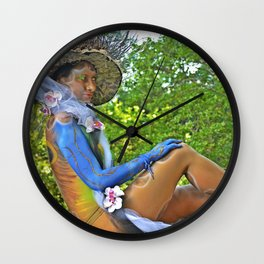 Body Painting OWL 6 - Made in Italy Wall Clock