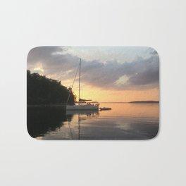 Sunset Lake Champlain Bath Mat