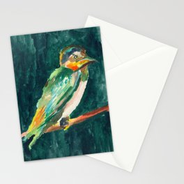 Green Bird from the Dark Forest Stationery Cards