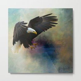Eagle On The Coast Metal Print