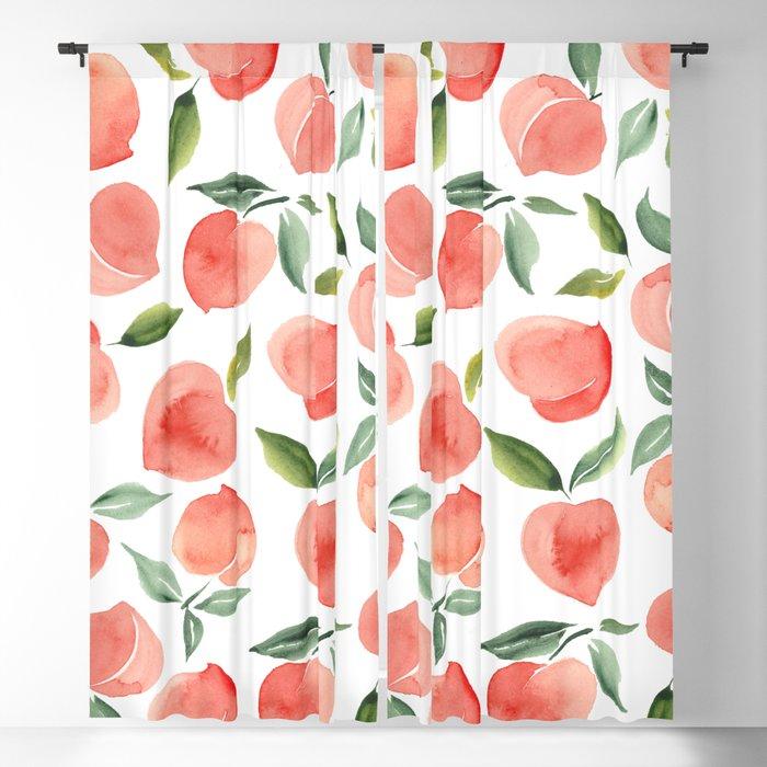 peaches Blackout Curtain
