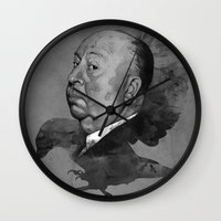 hitchcock Wall Clocks featuring Hitchcock by Arnaud Gomet