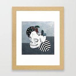 album skull Framed Art Print