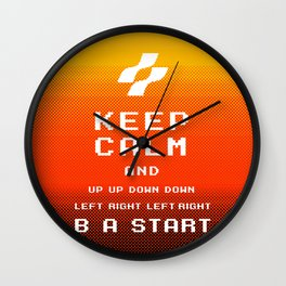 keep calm konami. Wall Clock