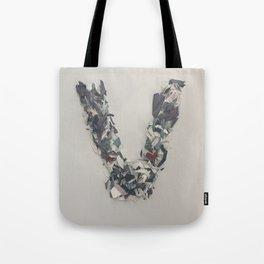 Letter V in Paint Tote Bag