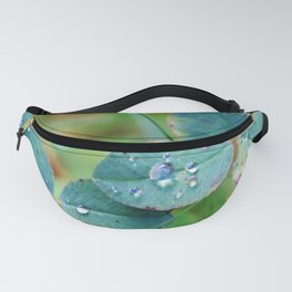Clover leaves with rain drops Fanny Pack