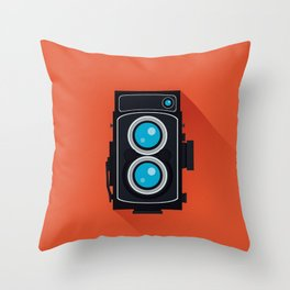 Retro Camera Throw Pillow