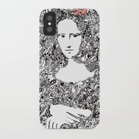 mona lisa iPhone & iPod Cases featuring Mona Lisa by Gribouilliz