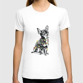 Chihuahua dog with colorful festoon T-shirt