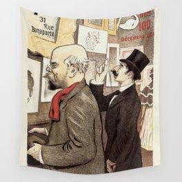 December 1894 7th Salon des 100 Art Expo Paris France Wall Tapestry