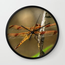 Halloween Pennant Dragonfly Wall Clock