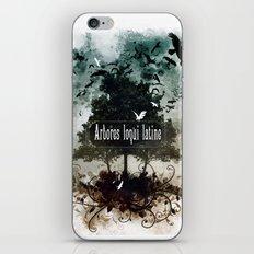 arbores loqui latine iPhone & iPod Skin