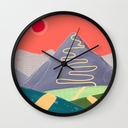 On The Road #3 Wall Clock