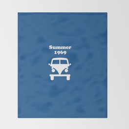 Summer 1969 - blue Throw Blanket