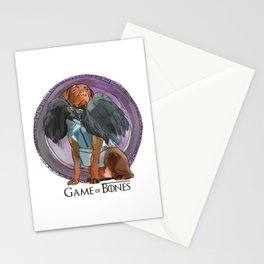 Game of Bones John Snow as a Lab Stationery Cards