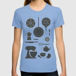 Kitchen Tools (black on white) T-shirt