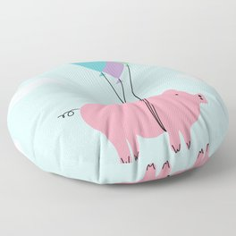 When Pigs Can Fly Floor Pillow