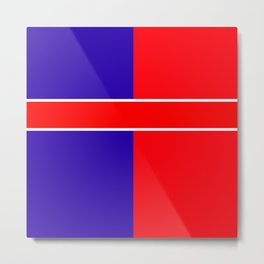 Team colors 6...red,blue Metal Print