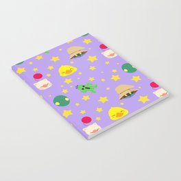final fantasy pattern lilac Notebook