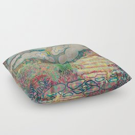 Sunny with a Chance of Spiders Floor Pillow