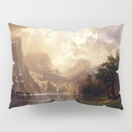Albert Bierstadt - Among the Sierra Nevada, California Pillow Sham
