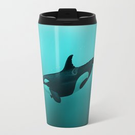 """""""Lost in Paradise"""" by Amber Marine ~ Killer Whale ~ Orca ~ Original Version ~ (Copyright 2015) Travel Mug"""