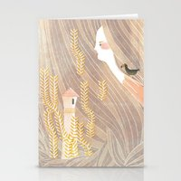 rapunzel Stationery Cards featuring Rapunzel by Wenjia Tang
