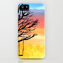Sunset and Swing iPhone Case