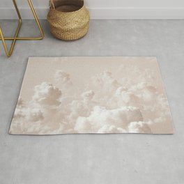 Light Academia Aesthetic white clouds Rug