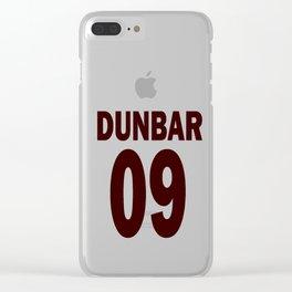 Dunbar 09 Clear iPhone Case