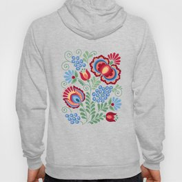 Moravian Folk Design Red Hoody