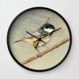 Coal Tit Wall Clock